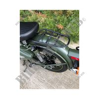 PORTAEQUIPAJES NEGRA para Royal Enfield CLASSIC 500 EURO 4